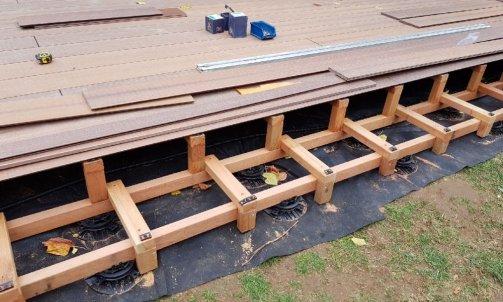 Terrasse bois composite Ouest Lyonnais